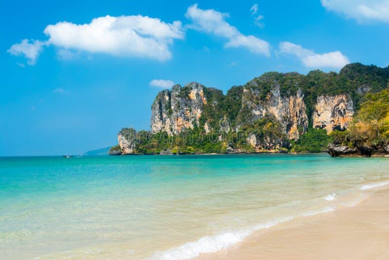 Plage de Railay, Krabi, Thaïlande image libre de droits