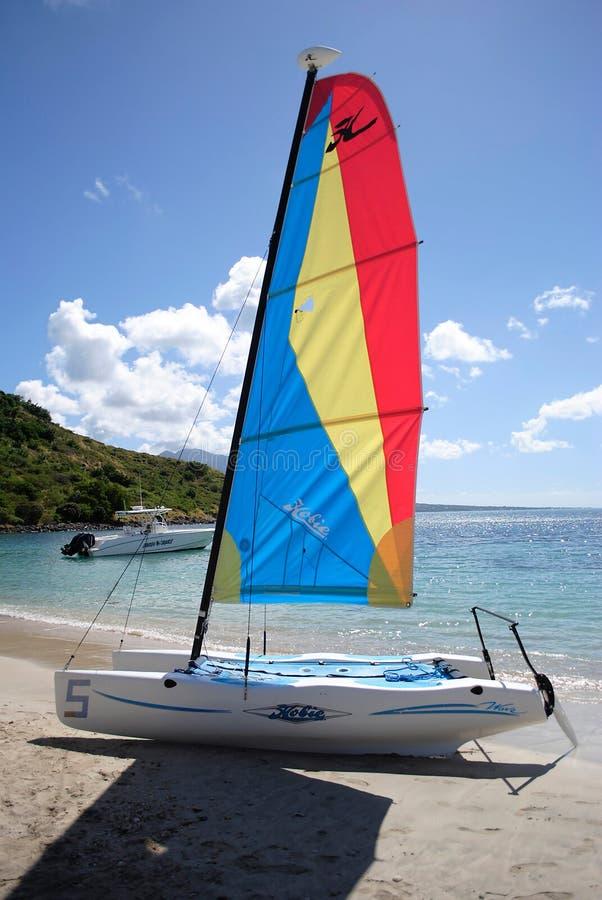Plage de Reggy dans St Kitts image stock
