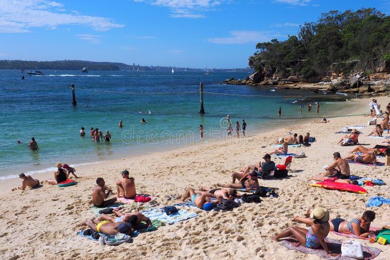 Plage de requin, Nielsen Park, Vaucluse, Sydney, Australie images stock
