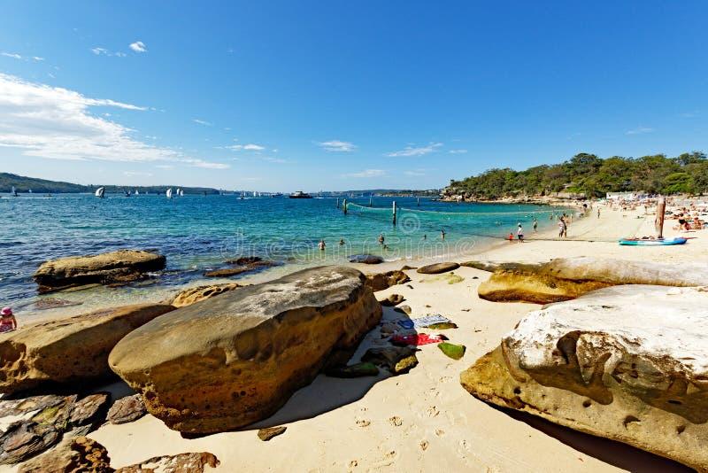 Plage de requin, Nielsen Park, Vaucluse, Sydney, Australie photographie stock