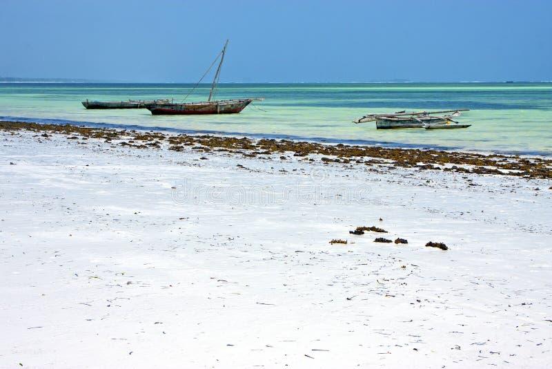 Plage de sable à Zanzibar images stock