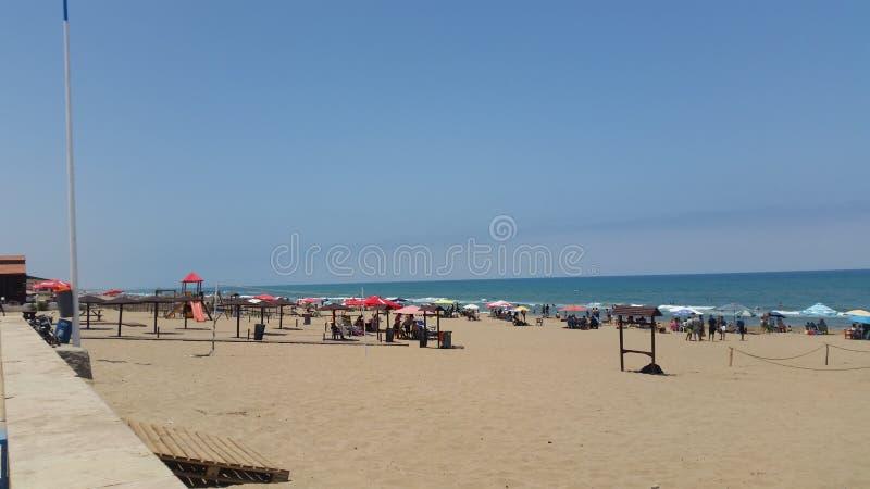 Plage de Saidia, Maroc photographie stock