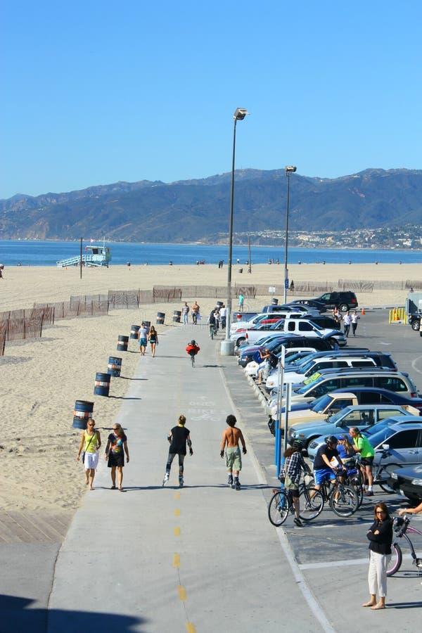 Plage de Santa Monica image libre de droits