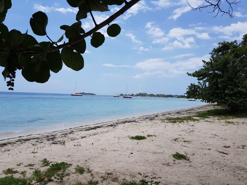 Plage de sept milles dans Negril Jamaïque photo libre de droits