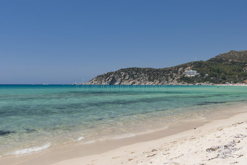 Plage de Solanas photo stock