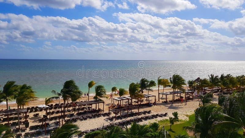 Plage de station de vacances de Cancun photo stock