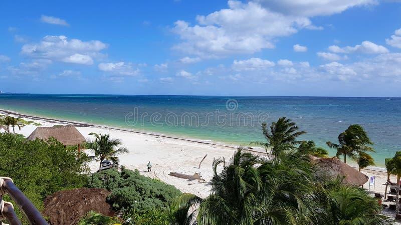 Plage de station de vacances de Cancun photo libre de droits