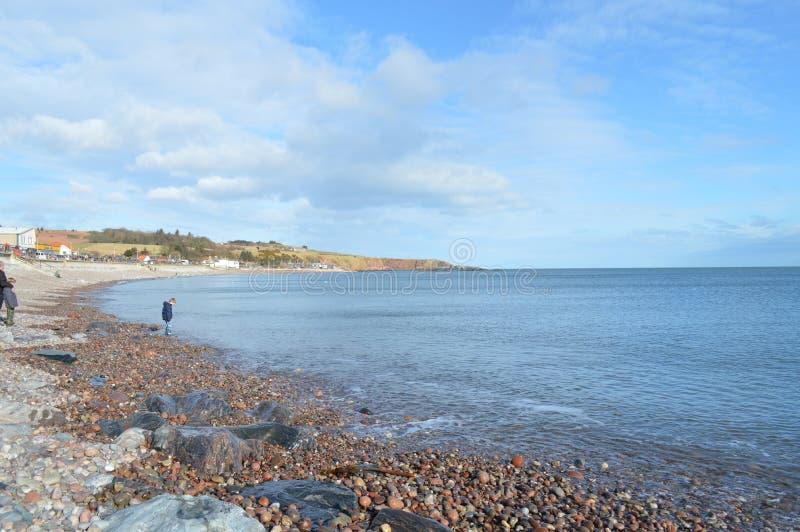 Plage de Stoenhaven, Aberdeenshire, Ecosse photo stock