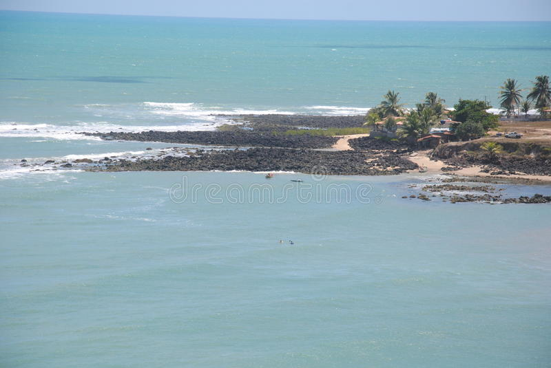 Plage de Tabatinga photo stock