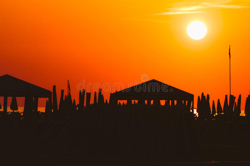 Plage de Viareggio, Italie, Toscane image libre de droits