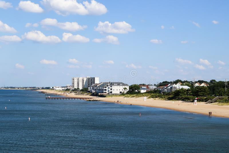 Plage de vue d'océan en Norfolk, VA photo libre de droits
