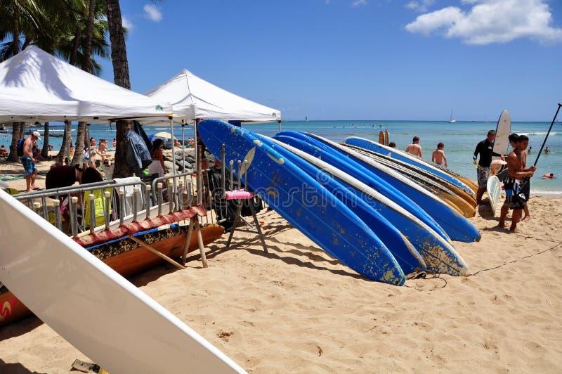 Plage de Waikiki photos libres de droits