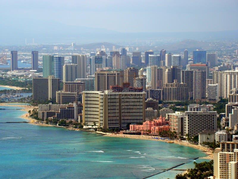Plage de Waikiki, Honolulu, Hawaï, Etats-Unis photographie stock