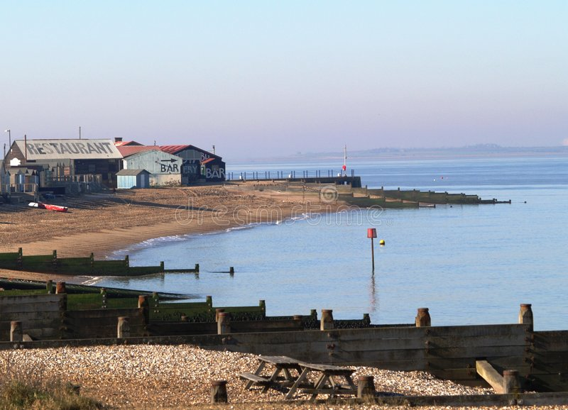 Plage de Whitstable photographie stock