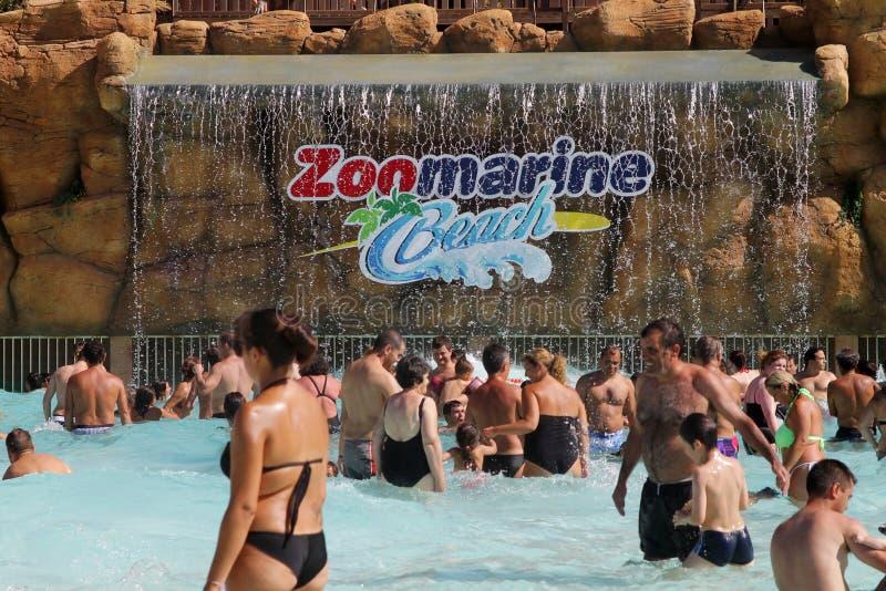 Plage de ZooMarine dans Algarve, Portugal photos stock