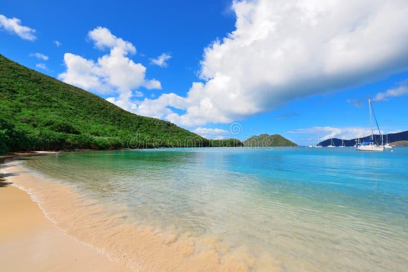 Plage des Îles Vierges photos stock