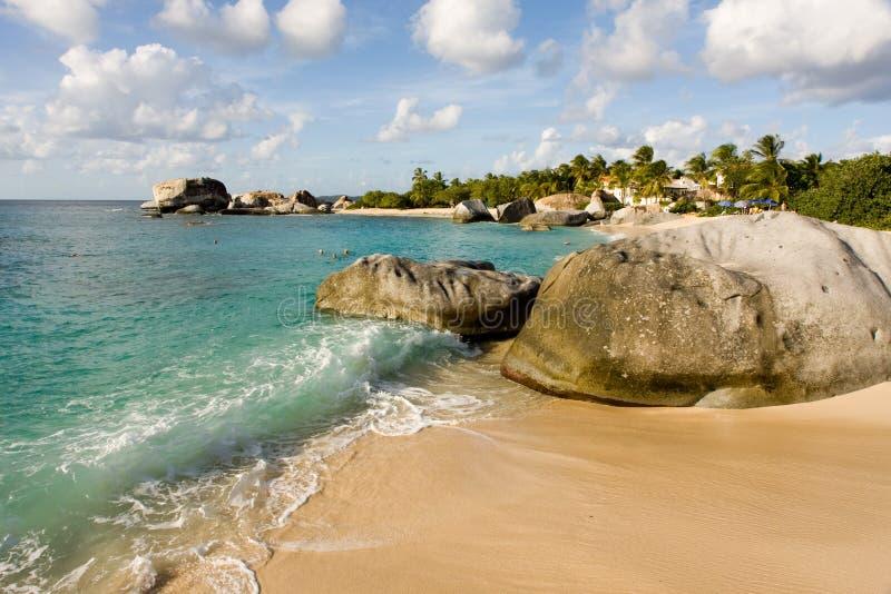 Plage des Caraïbes, Îles Vierges image libre de droits