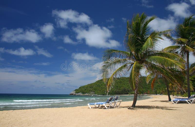 Plage des Caraïbes pittoresque images libres de droits