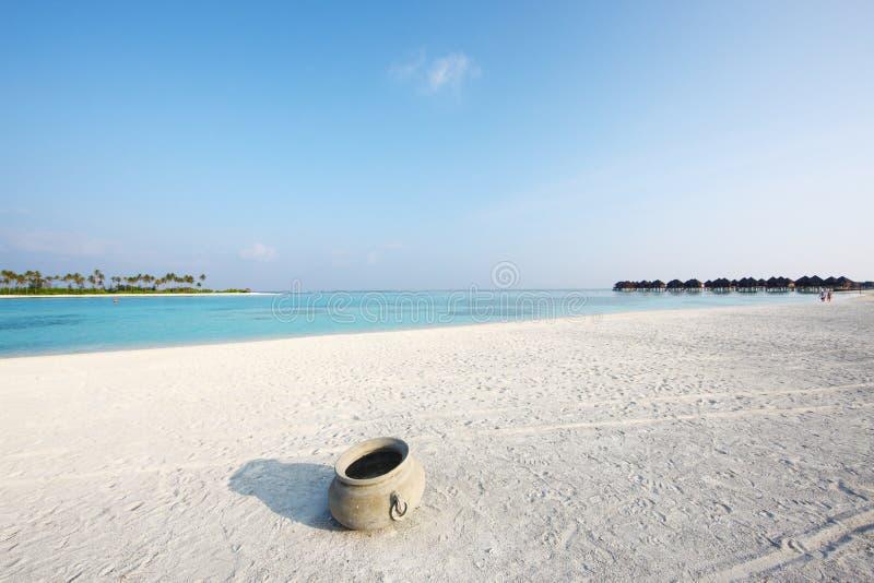 Plage des Maldives photo stock