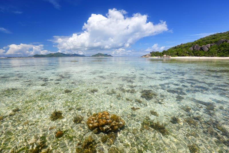 plage des Seychelles photos stock
