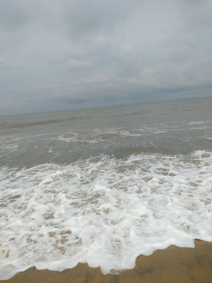 Plage du Kerala Cherai en Inde photos libres de droits