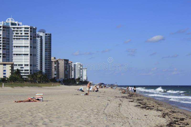 Plage du nord de Fort Lauderdale photo libre de droits