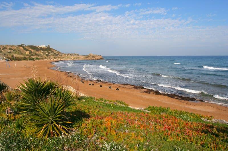 Plage du nord de la Chypre photos stock