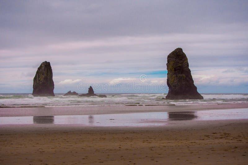 Plage du nord-ouest Pacifique photographie stock