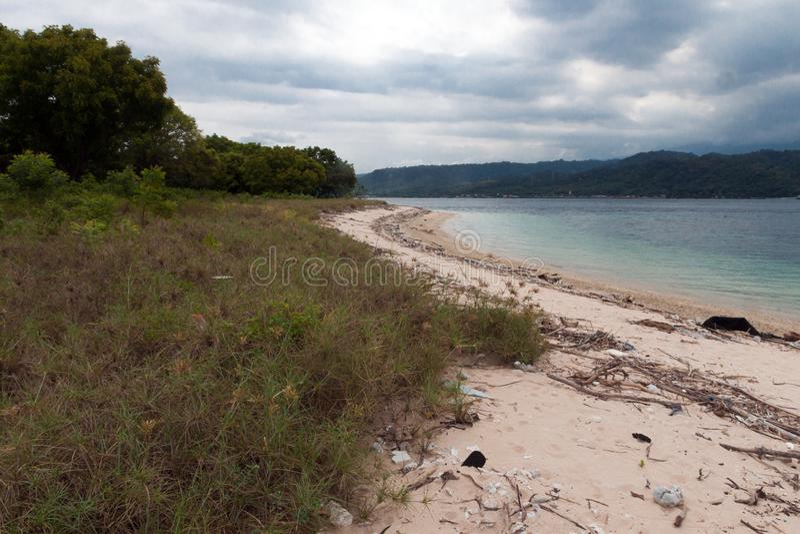 Plage du parc occidental national dans Bali photo stock