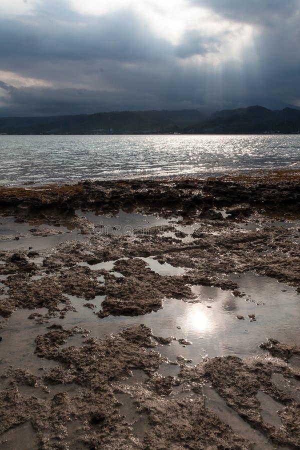 Plage du parc occidental national dans Bali image libre de droits