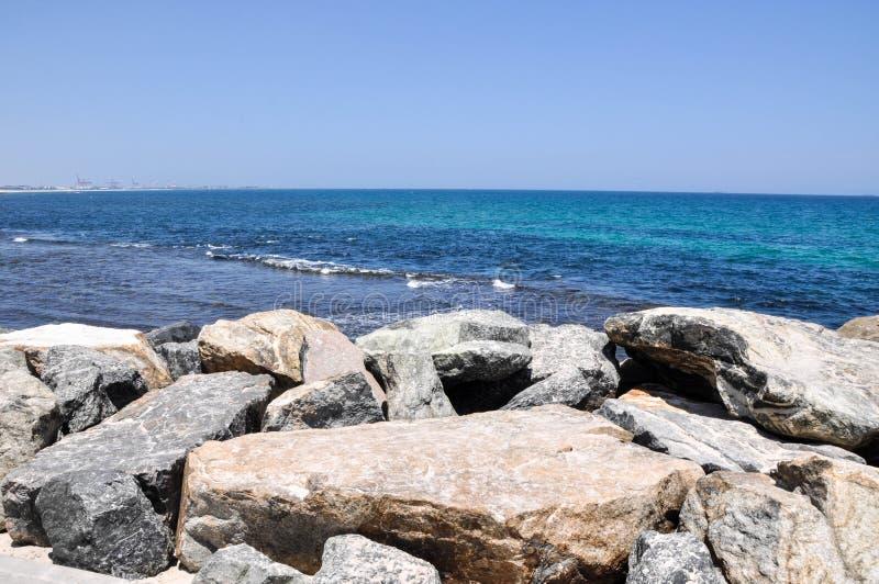 Plage du sud de Cottesloe : Paysage marin de l'Océan Indien photographie stock
