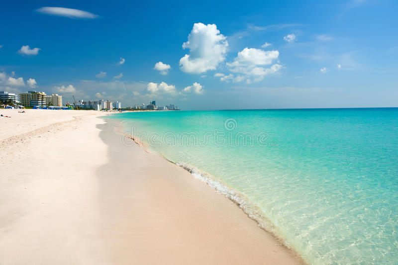 Plage du sud Miami photos stock