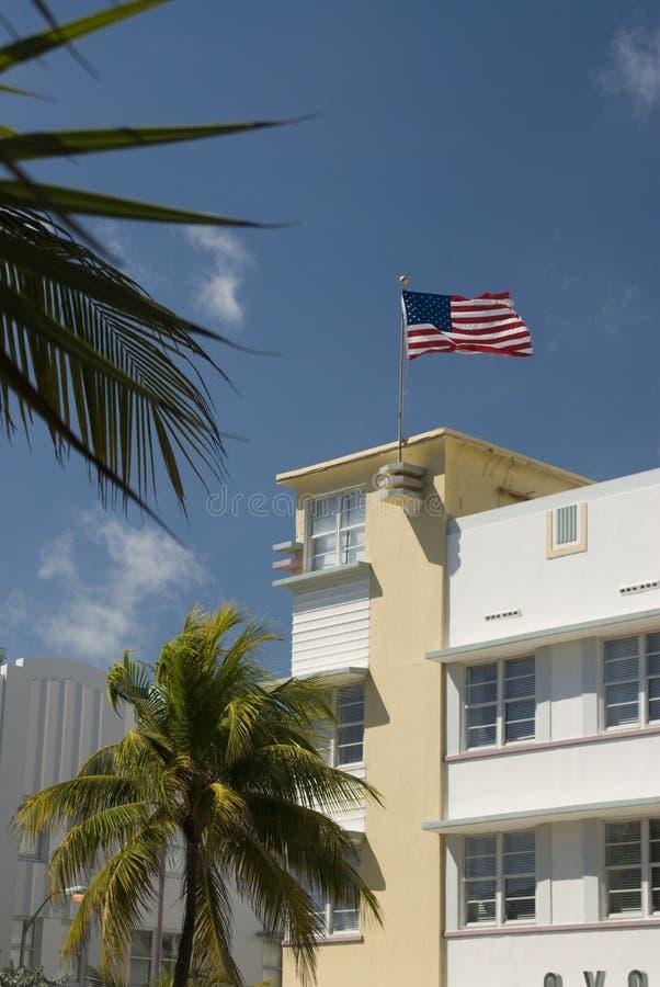 Plage du sud Miami d'architecture photographie stock