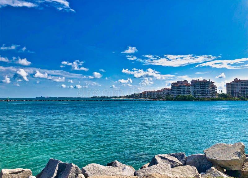 Plage du sud Miami l'Océan Atlantique image libre de droits