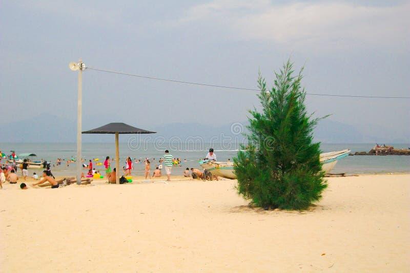 Plage en Daya Bay, Huizhou, Chine images libres de droits