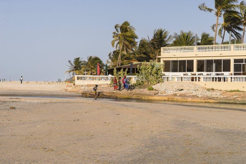 Plage en Gambie photographie stock