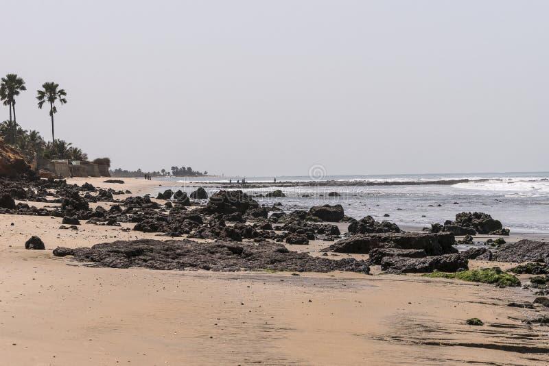 Plage en Gambie images stock