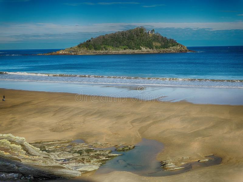 Plage en San Sebastian Donostia Spain Amazing City Espagne du nord photos stock
