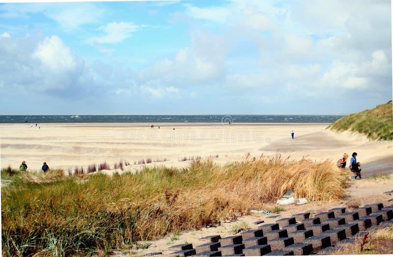 plage et dunes dans Texel photos stock