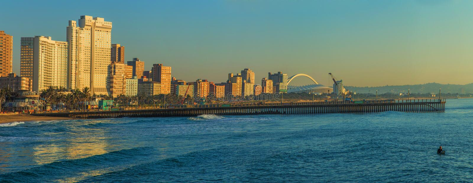 Plage Front South Africa de Durban photo stock