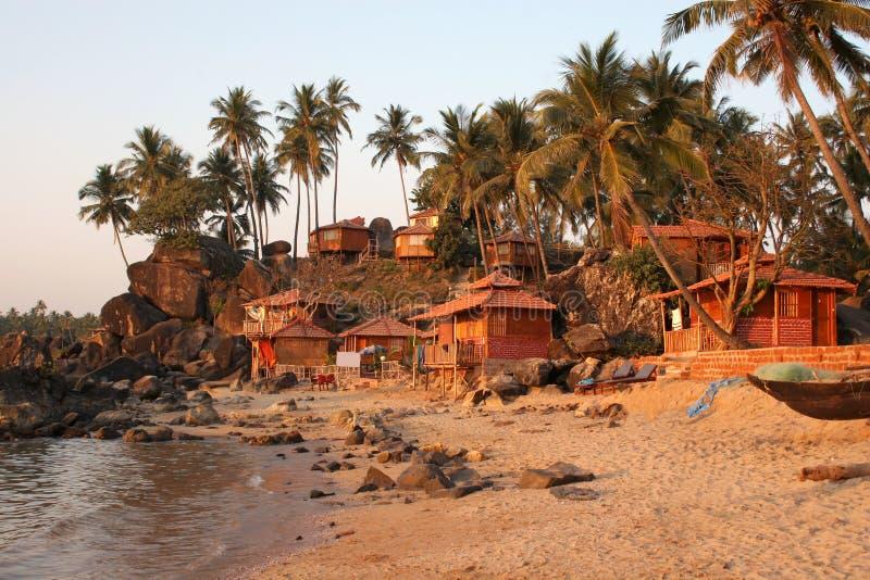 Plage Goa de Palolem photographie stock libre de droits