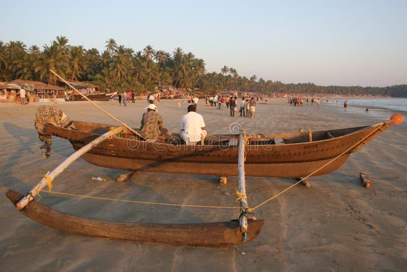 Plage Goa de Palolem image libre de droits