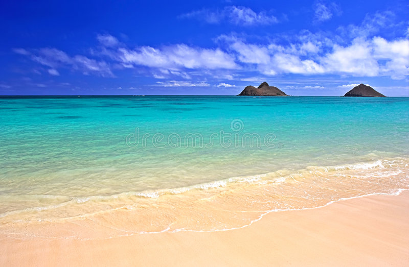 Plage hawaïenne photo libre de droits