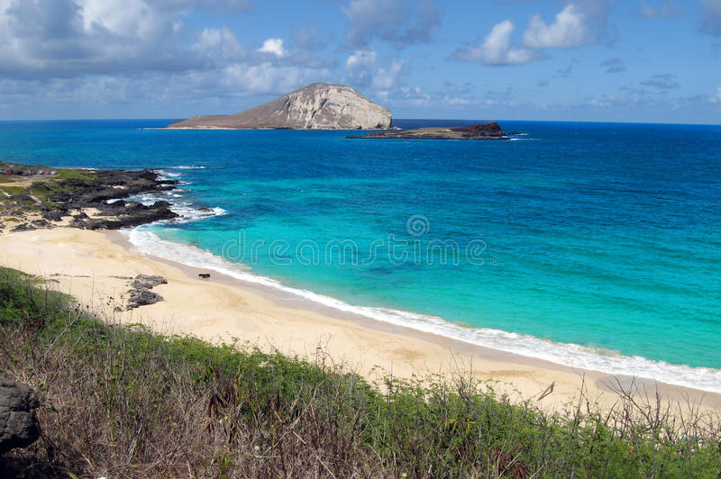 Plage hawaïenne images stock