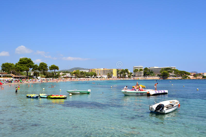 Plage Ibiza, Espagne d'es Cana image libre de droits