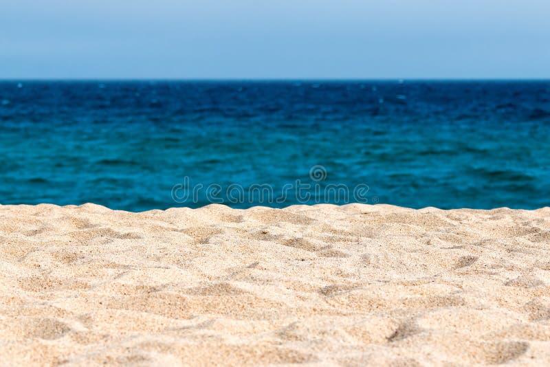 Plage idyllique de sable photographie stock libre de droits