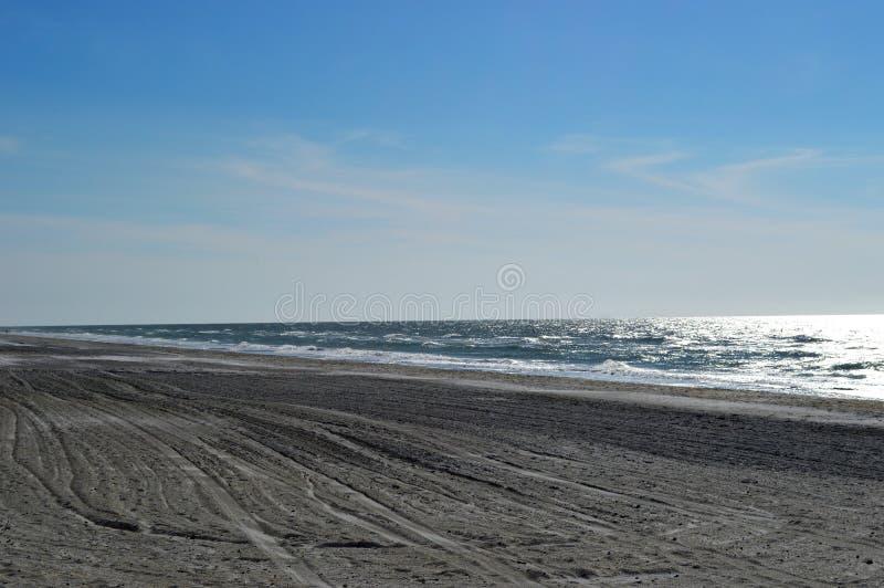 Plage isolée de Golfe photographie stock