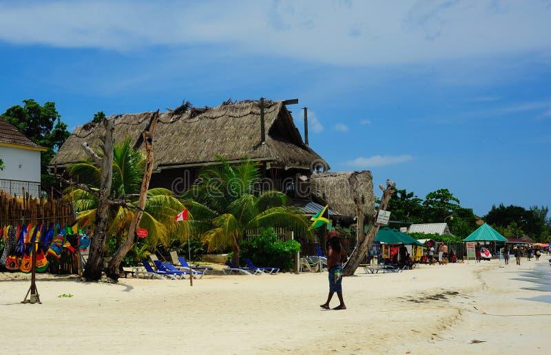 Plage Jamaïque de Negril photos libres de droits