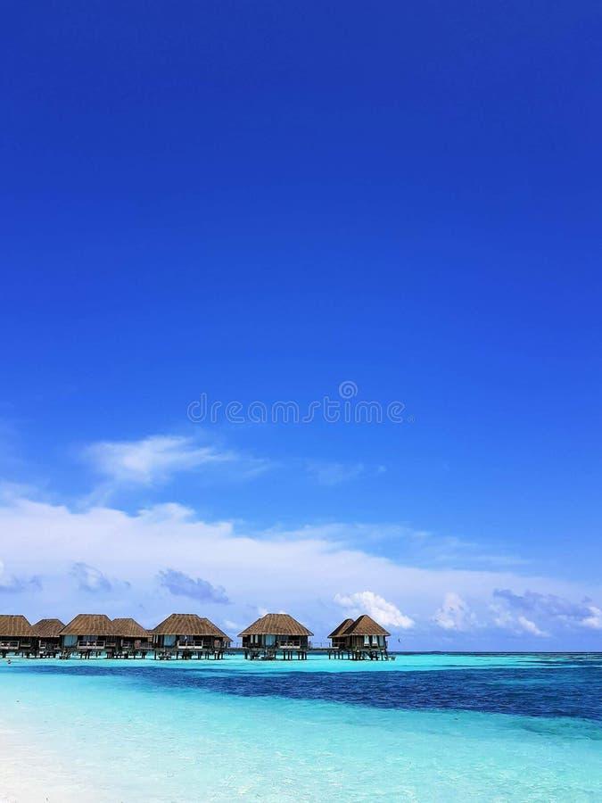 Plage Kani Club Med des Maldives images stock