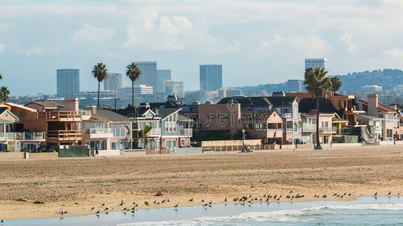 Plage la Californie 3 de Newport photos libres de droits